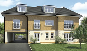 CGI Production of new apartments in Bromley, Kent